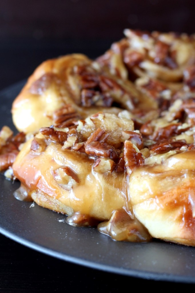 Caramel Pecan Sticky Buns - Chocolate with Grace