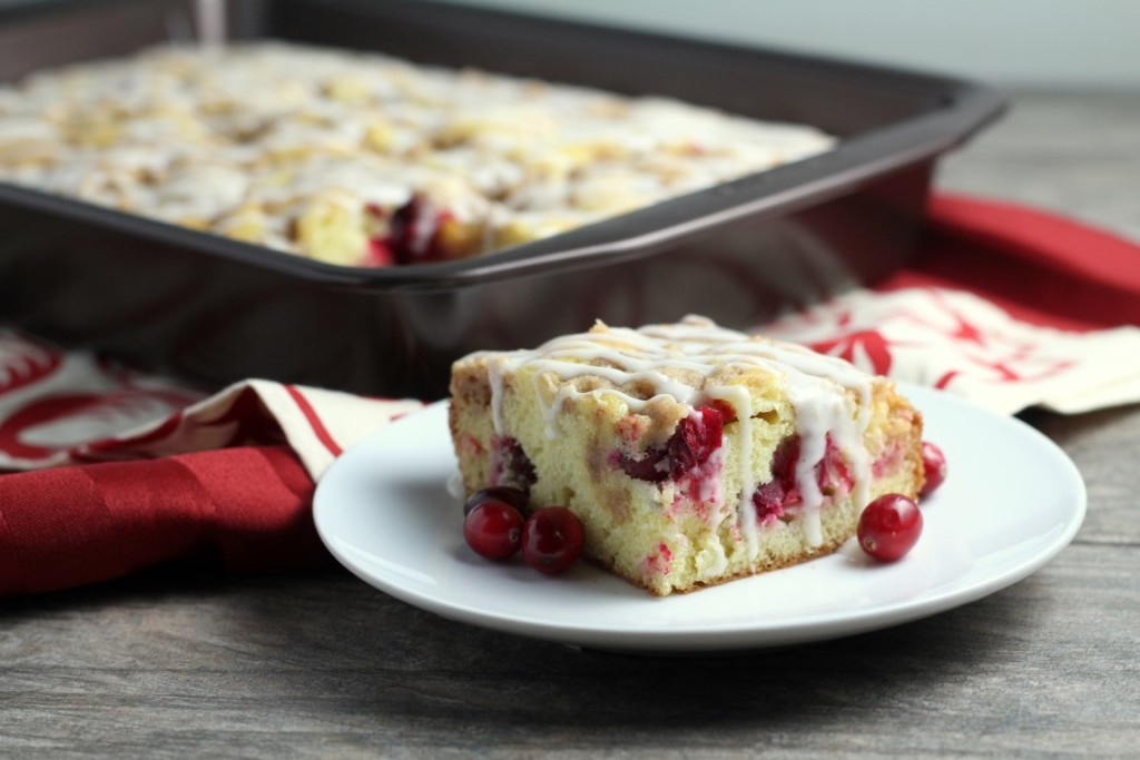 This cranberry crumb coffee cake makes a wonderful Christmas brunch treat. Great Christmas Breakfast Recipe!
