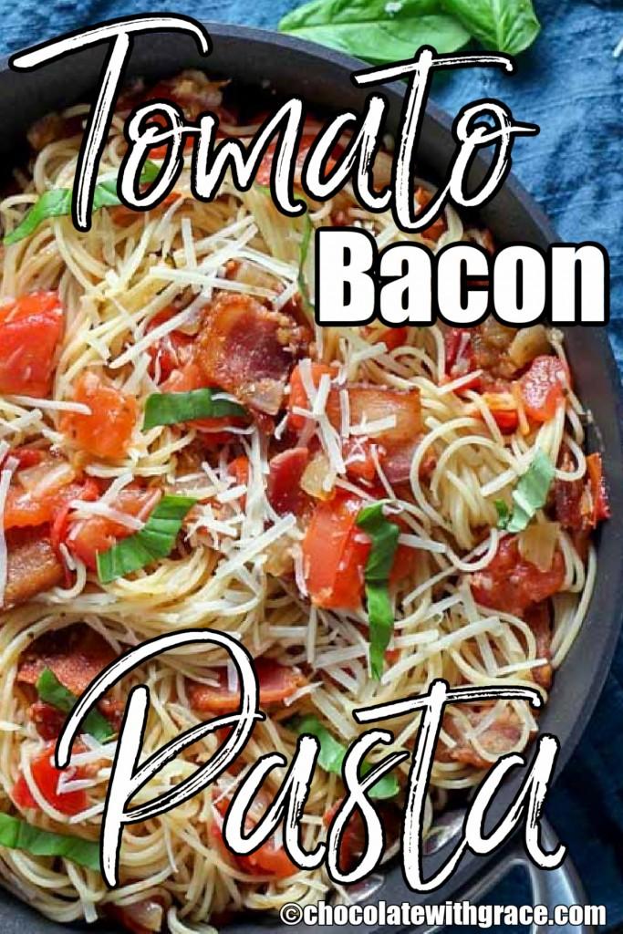 Easy Tomato Bacon Pasta
