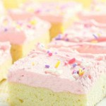 Sugar Cookie Bars are so much easier than traditional cookies!