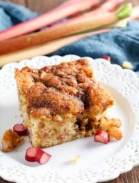 Rhubarb Coffeecake is a summer favorite