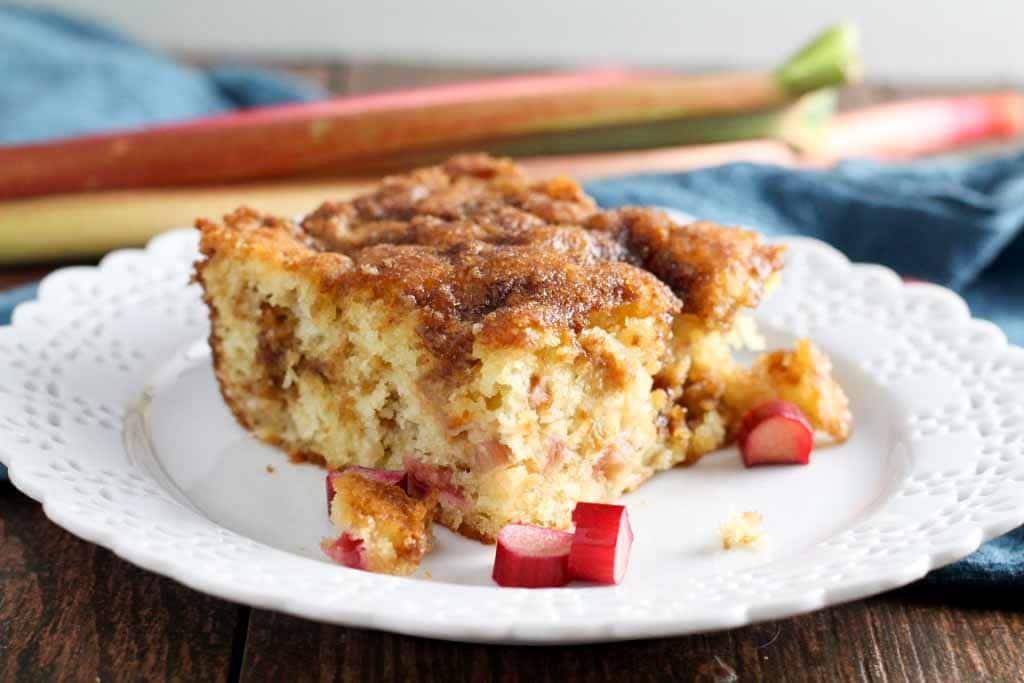 Classic Rhubarb Coffeecake