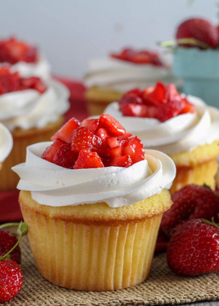 Strawberry Shortcake Cupcakes are irresistible