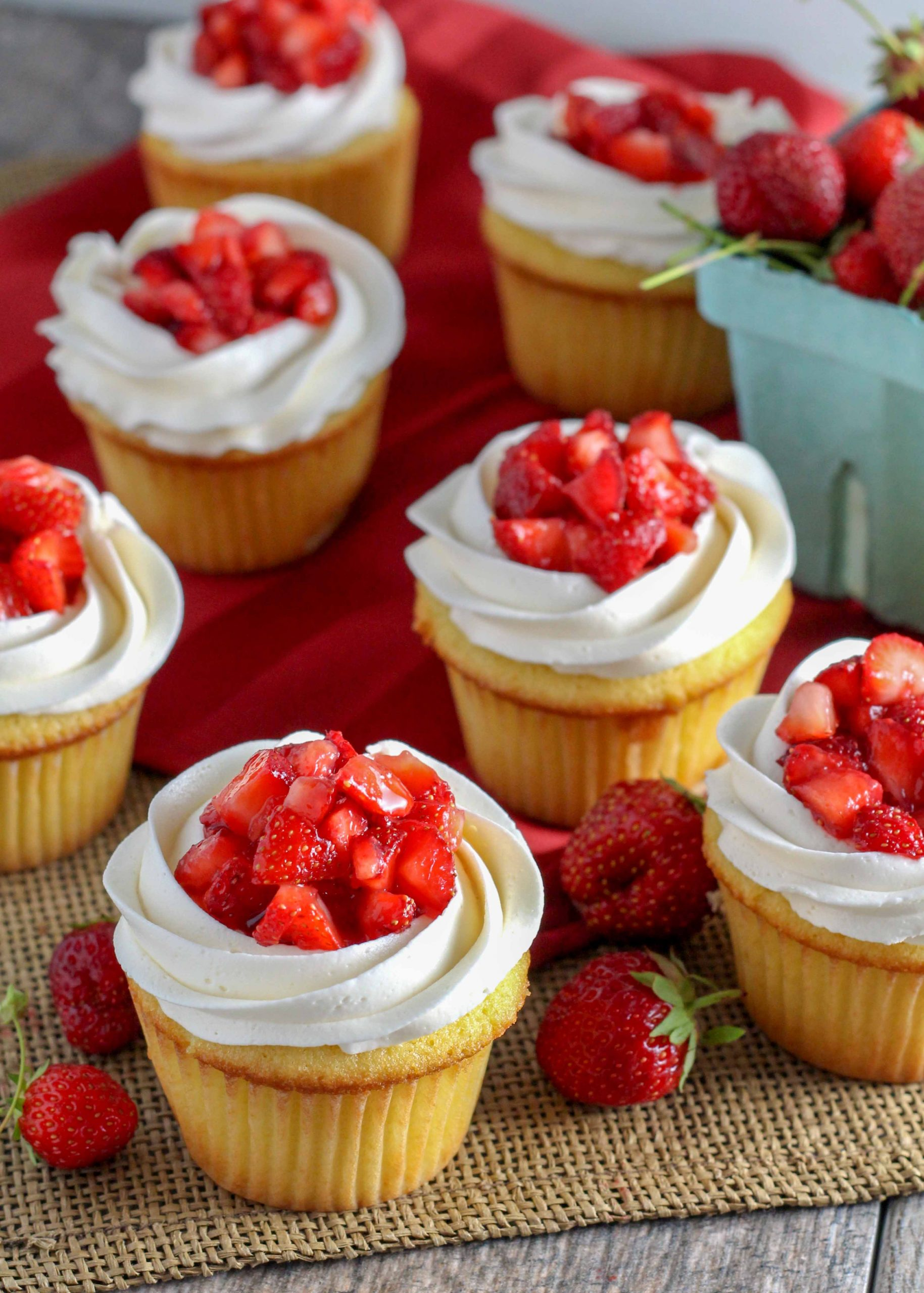 Strawberry Shortcake Cupcakes are a summer treat that you're going to love.