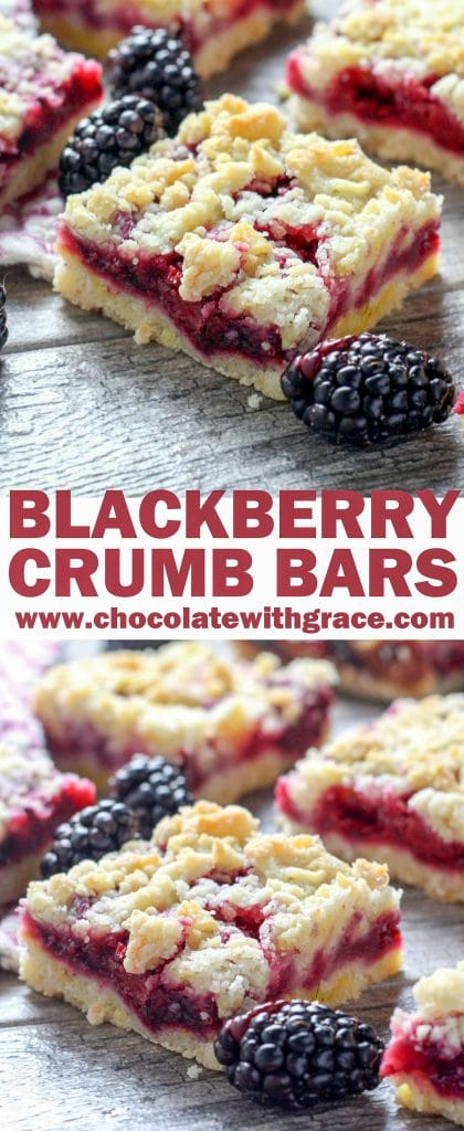 Blackberry Crumble Bars