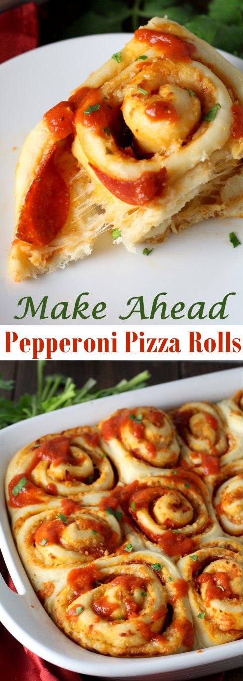 Make Ahead Pepperoni Pizza Rolls - Chocolate with Grace