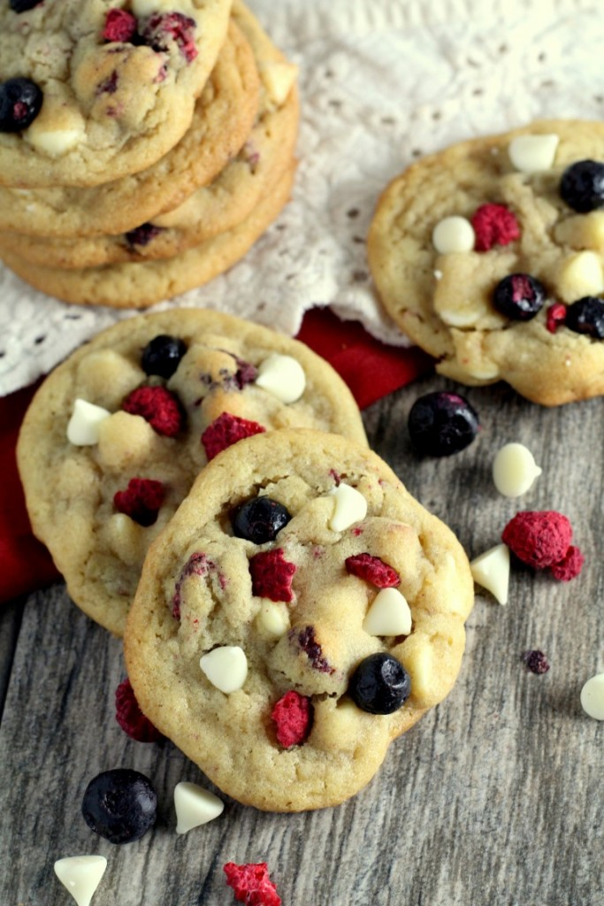 Red, White and Blueberry Cookies (3)