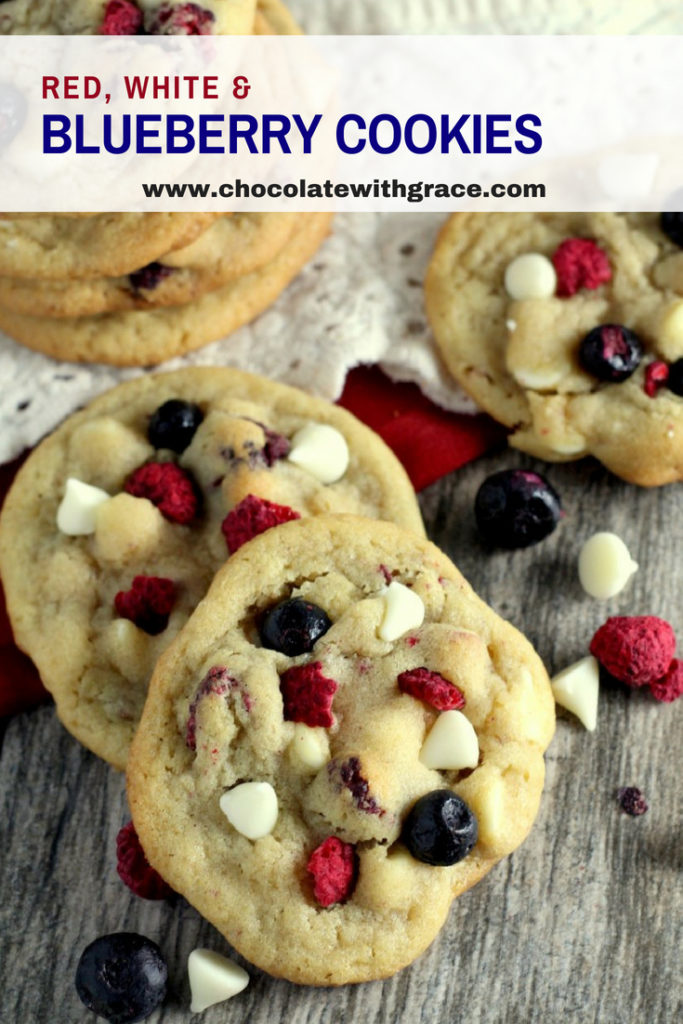 Red White and Blueberry White Chocolate cookies are a perfect 4th of July or independence day dessert recipe.