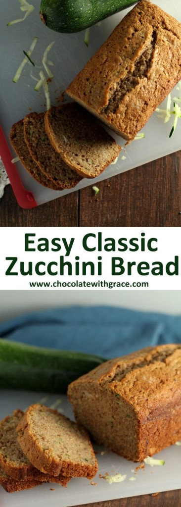 My family's favorite, easy zucchini bread recipe. Simple, moist and delicious.