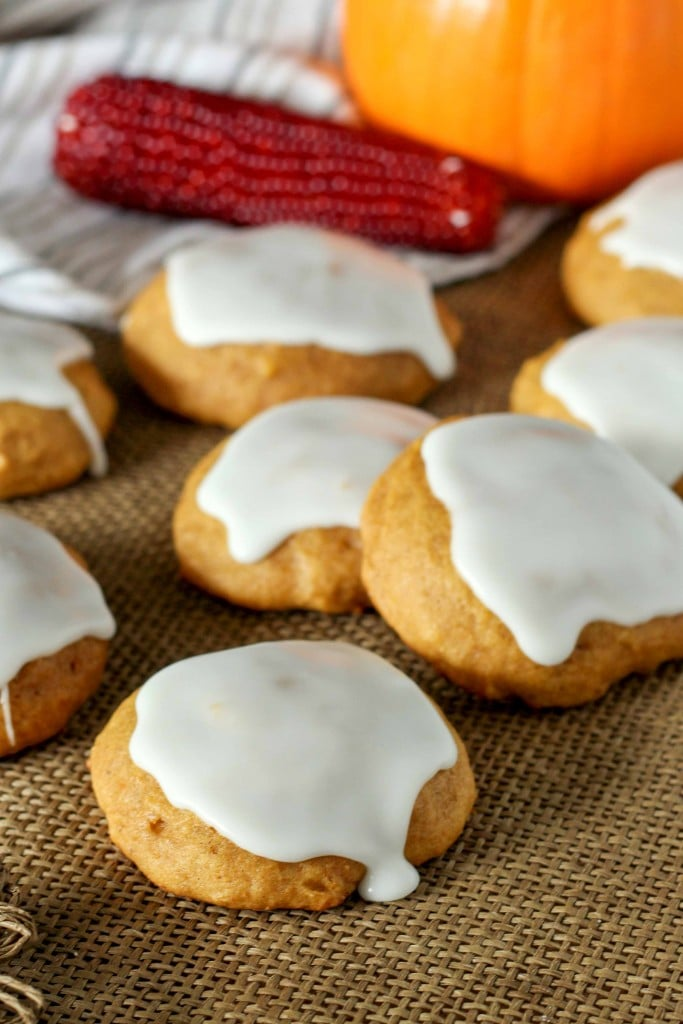 Glazed Pumpkin Cookies are a staple in our freezer for the holidays