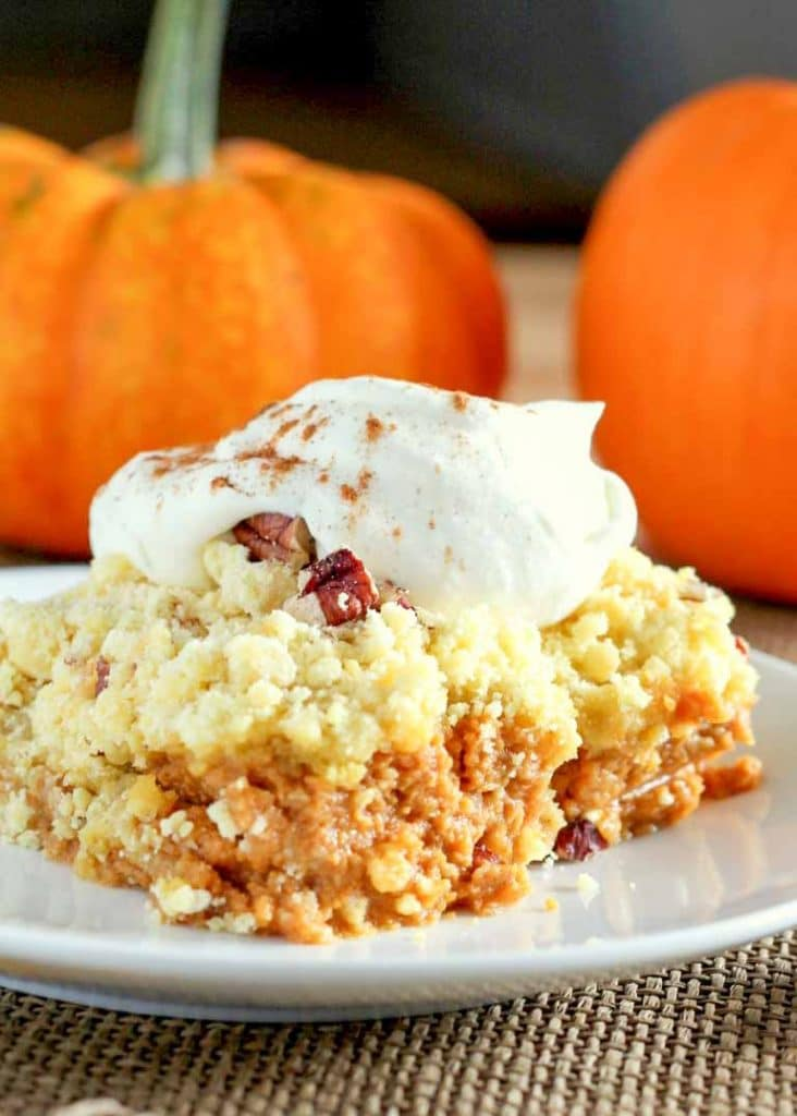 Pumpkin Crunch Cake is a dump cake kicked up to new levels!