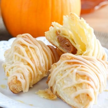 Pumpkin Pie Puff Pastry Turnovers are an easy holiday dessert!