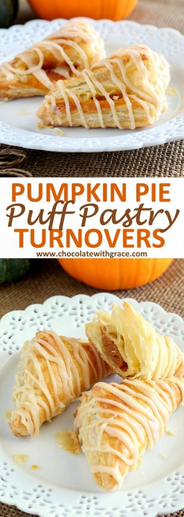 Pumpkin Pie Puff Pastry Turnovers