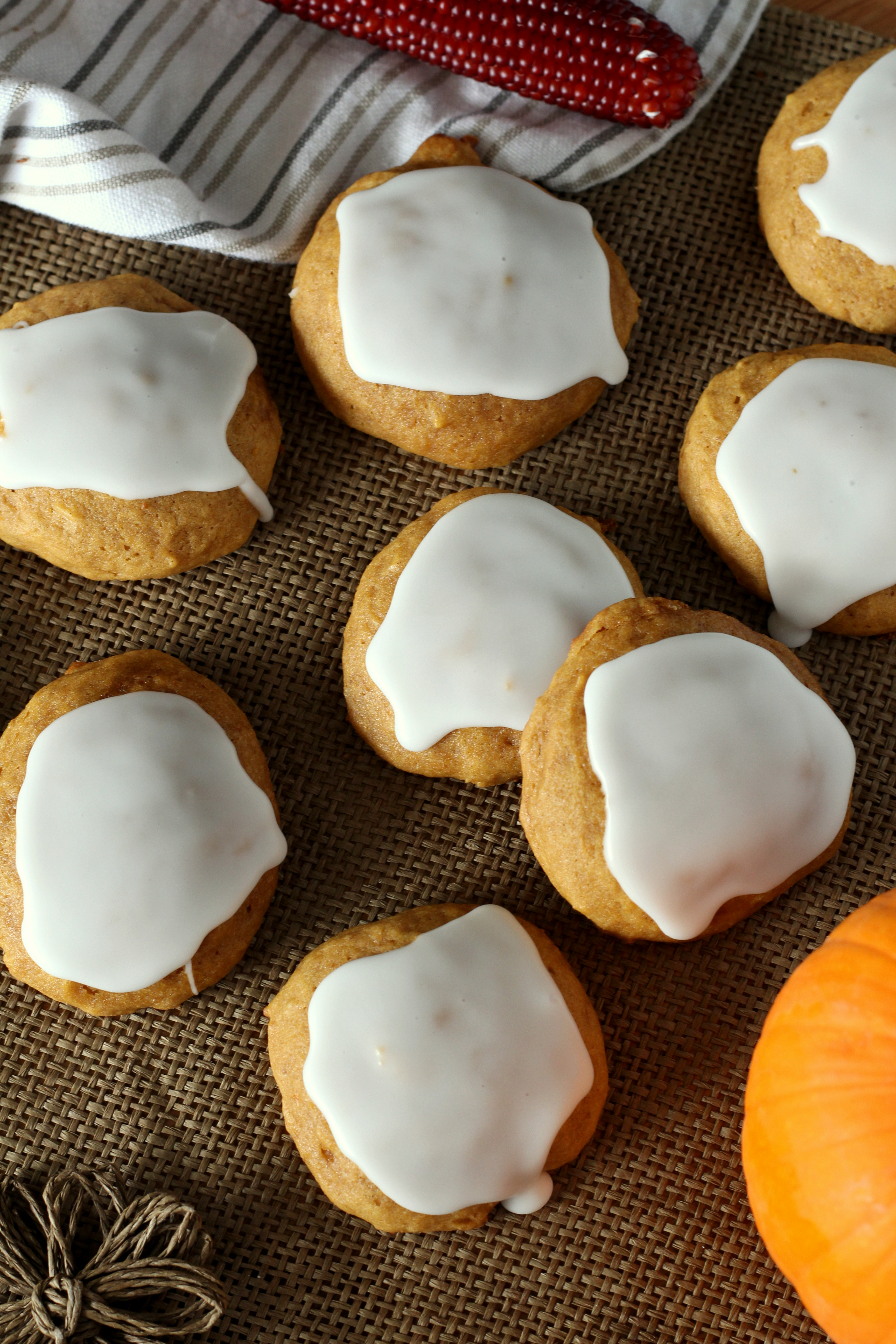 The Famous Soft Glazed Pumpkin Cookies that get compliments wherever I ...