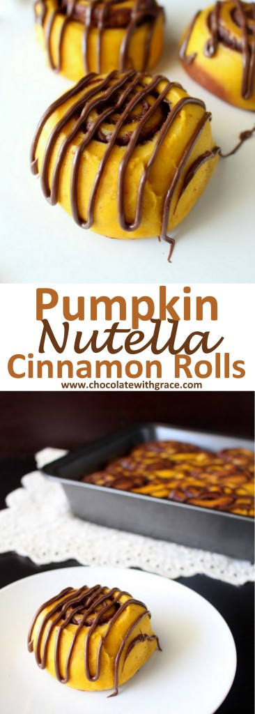 A Pumpkin Nutella Thanksgiving recipe that is perfect for breakfast on Christmas morning.