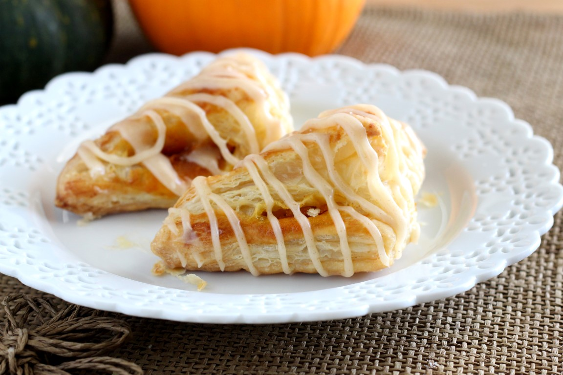 Pumpkin Puff Pastry Turnovers - Chocolate with Grace