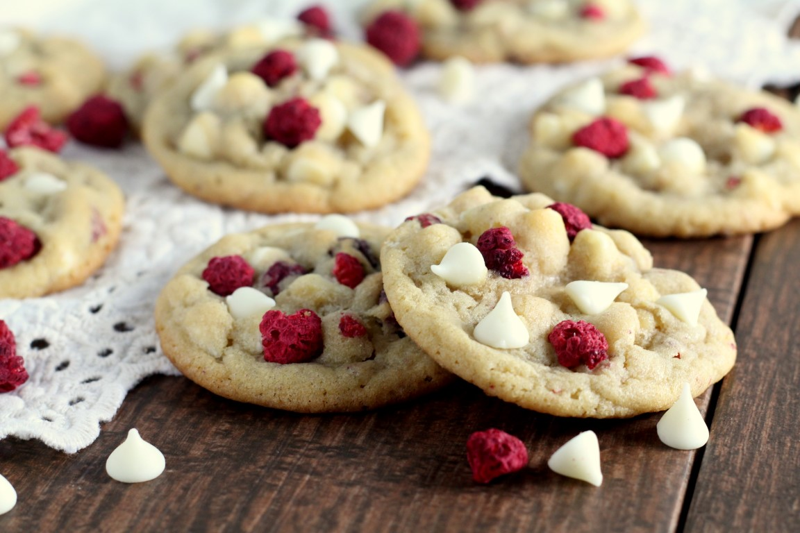 White Chocolate Raspberry Cookies - Chocolate with Grace