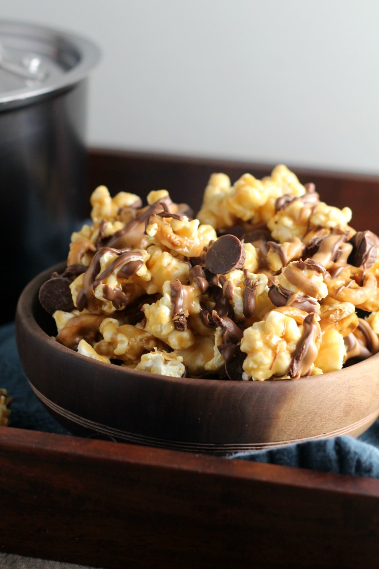 Peanut Butter Cup Pretzel Popcorn Chocolate With Grace
