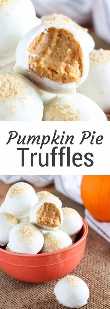 White Chocolate Pumpkin Truffles