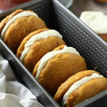 Cream Cheese Filled Pumpkin Whoopie Pies | Easy Thanksgiving Dessert | Pumpkin Whoopie Pie Recipe