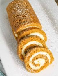 Our favorite Thanksgiving dessert - Pumpkin Cake Roll!