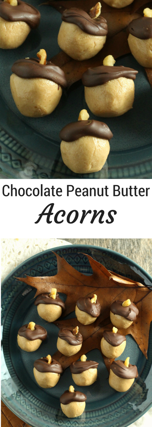 Chocolate Peanut Butter Acorns - Chocolate with Grace