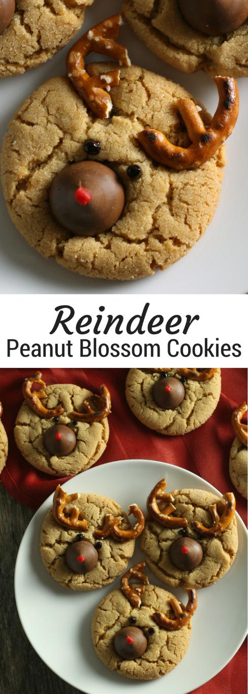 Christmas Peanut Blossom Cookies