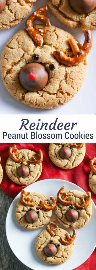 Reindeer Peanut Blossom Cookies