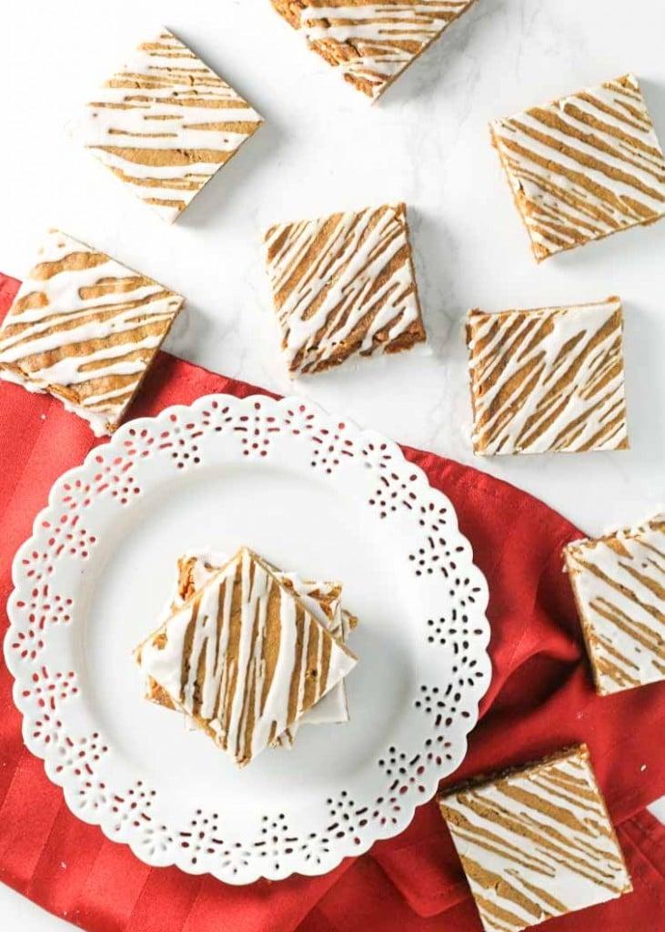 Soft Glazed Gingerbread Bars