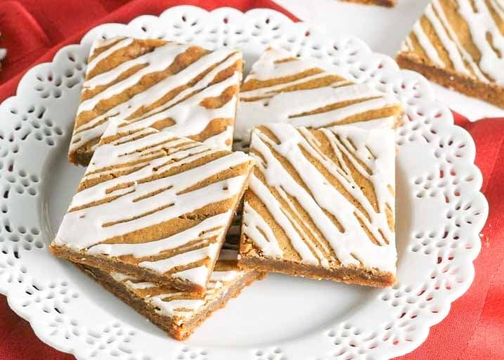 Soft and chewy, Gingerbread Cookie Bars