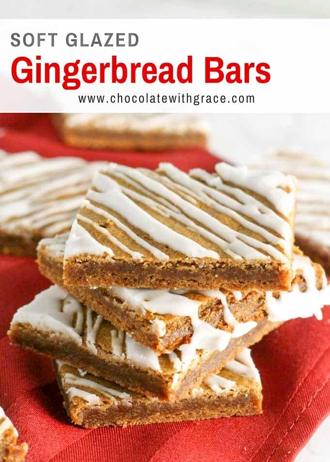 Gingerbread Bars with Icing