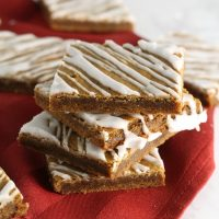 Soft Glazed Gingerbread Bars