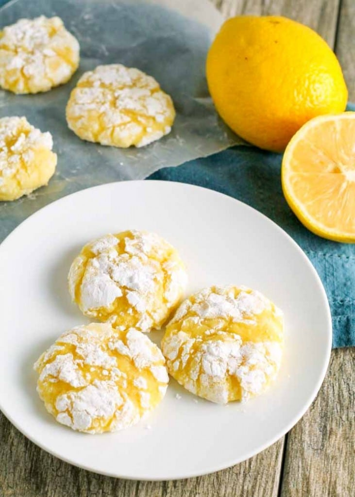Lemon Crinkle Cookies are a popular classic.