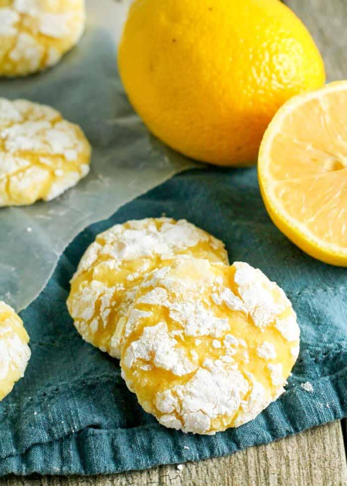 Classic Lemon Crinkle Cookies