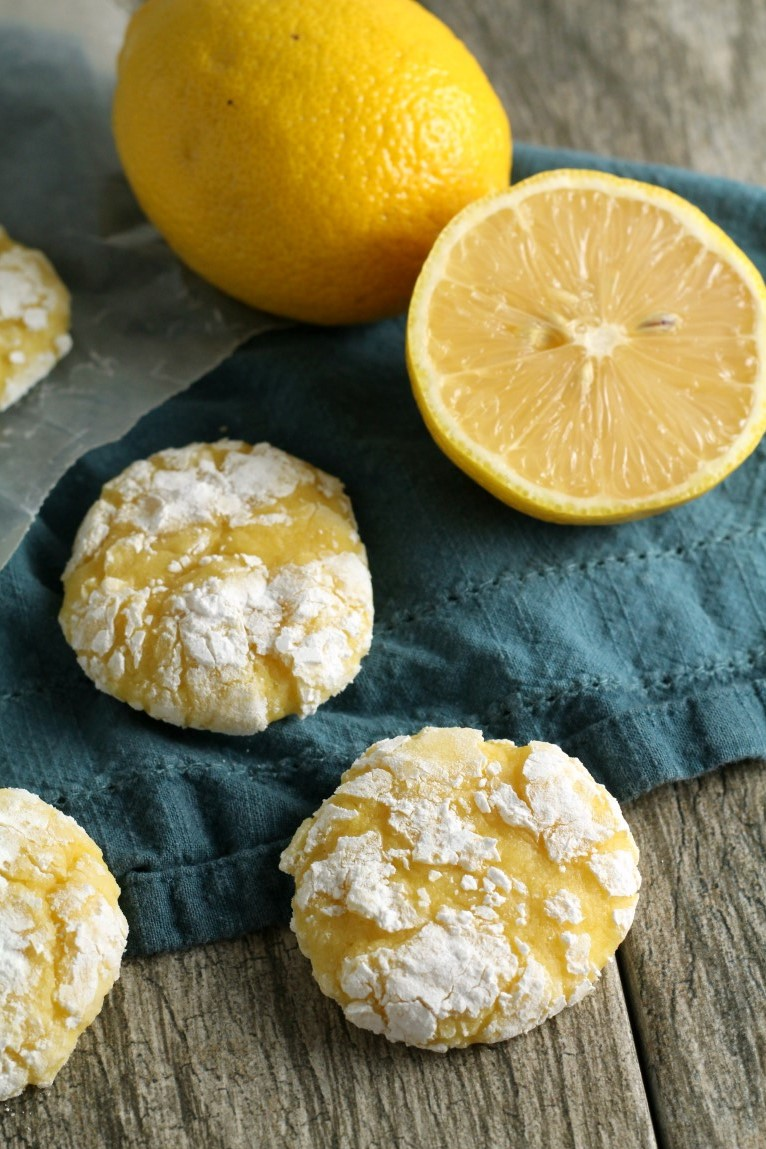 Lemon Crinkle Cookies From Scratch Chocolate With Grace