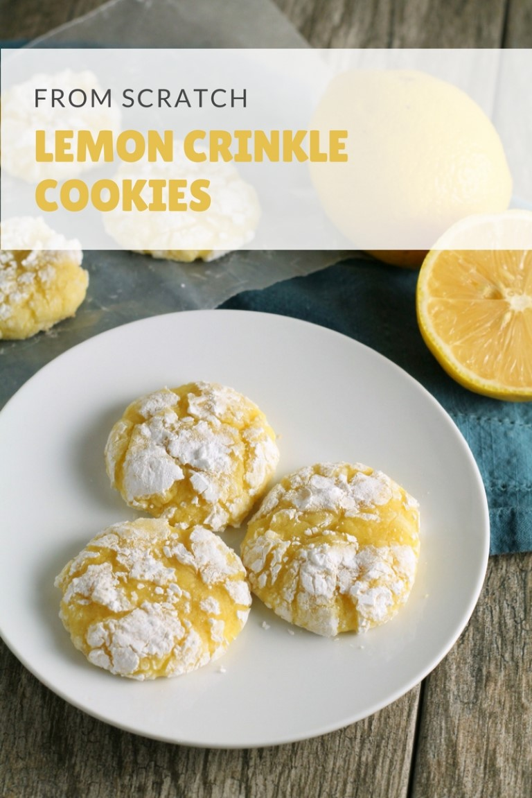 Lemon Crinkle Cookies made from scratch. This classic easy cookie recipe is a perfect lemon dessert for all you lemon lovers out.