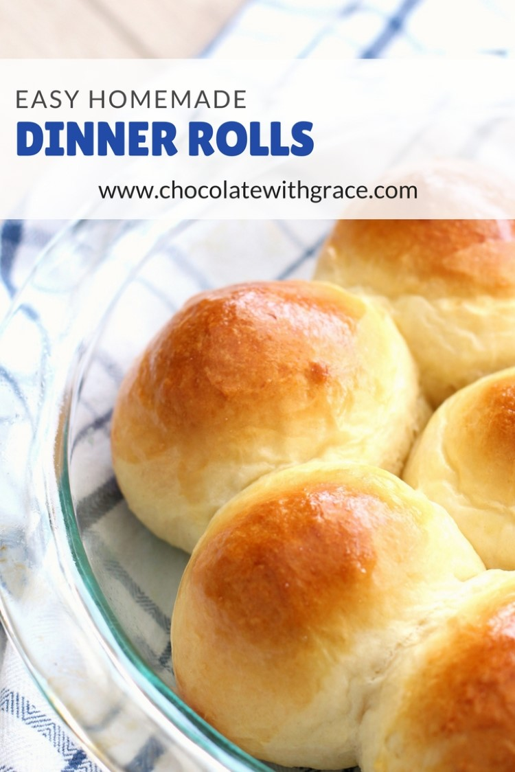 buttery dinner rolls chocolate with grace