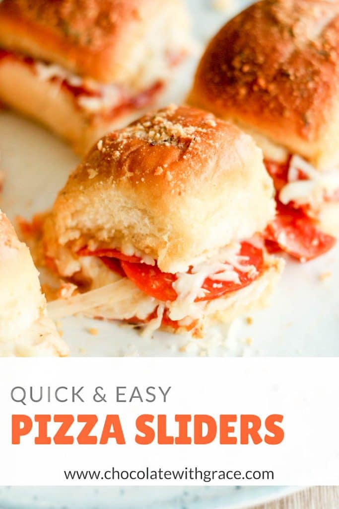 Pizza sliders are a fast and tasty way to get a meal on the table!