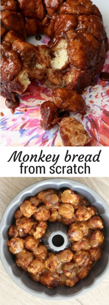Homemade Monkey Bread from Scratch. Gooey, caramel goodness that is perfect for Brunch on Mother's day, Christmas or any day you want.