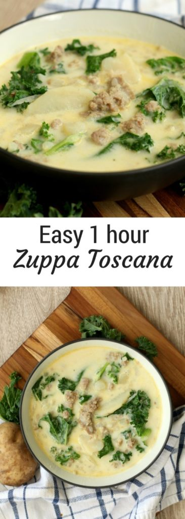 Best Stovetop Zuppa Toscana Soup - 1 pot 1 hour easy dinner recipe. The classic Olive Garden copycat recipe made from scratch at home.
