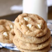White Chocolate Snickerdoodles