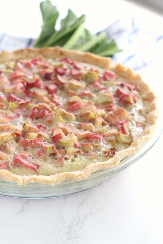 Old Fashioned Rhubarb Pie has a classic custard base filled with tangy sweet rhubarb. A classic rhubarb recipe handed down from my great grandma. Check out my blog for other great rhubarb recipes.