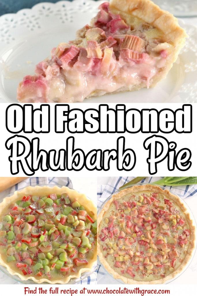 Rhubarb Custard Pie - just like Grandma used to make!