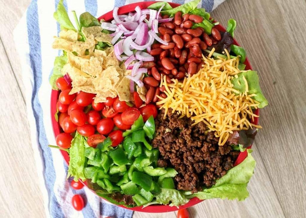 Big Potluck Taco Salad
