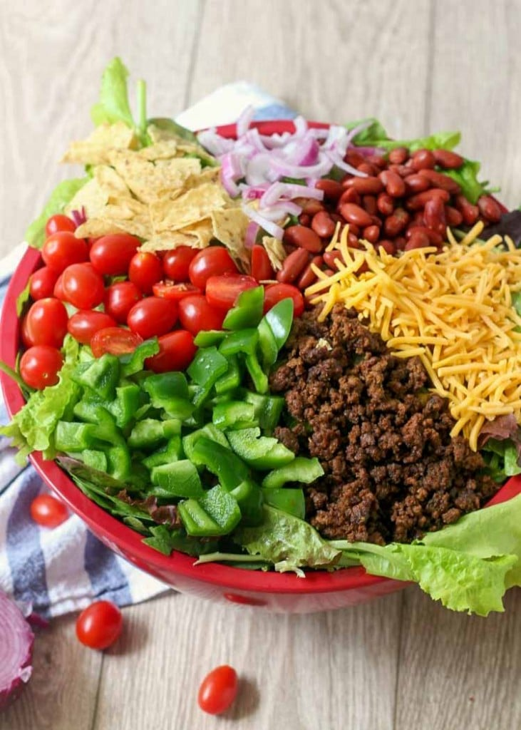 Classic Taco Salad Ingredients