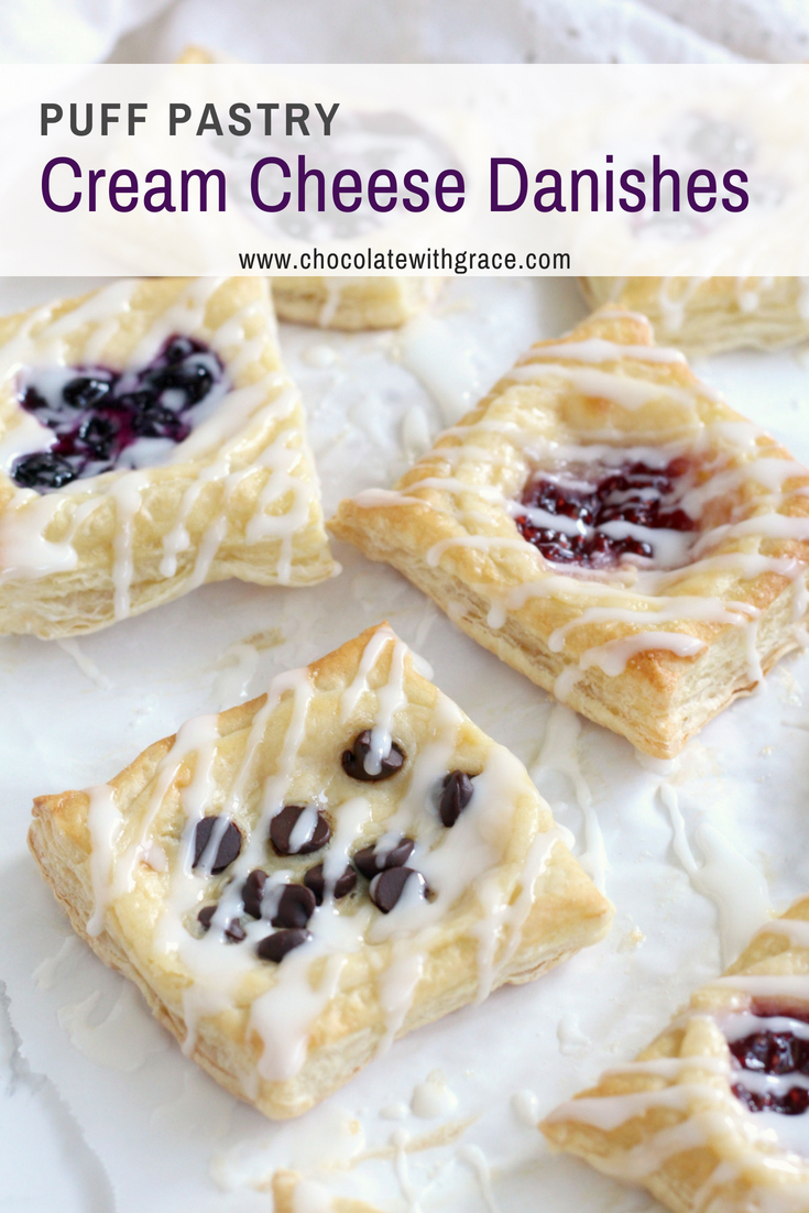 Puff Pastry Cream Cheese Danishes Chocolate With Grace