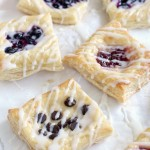 Chocolate Chip Cream Cheese Danish recipe made from Puff pastry.anishes made from puff pastry. Try any flavor you want, chocolate, raspberry, blueberry or any fruit you want. Quick and easy Brunch Dessert.