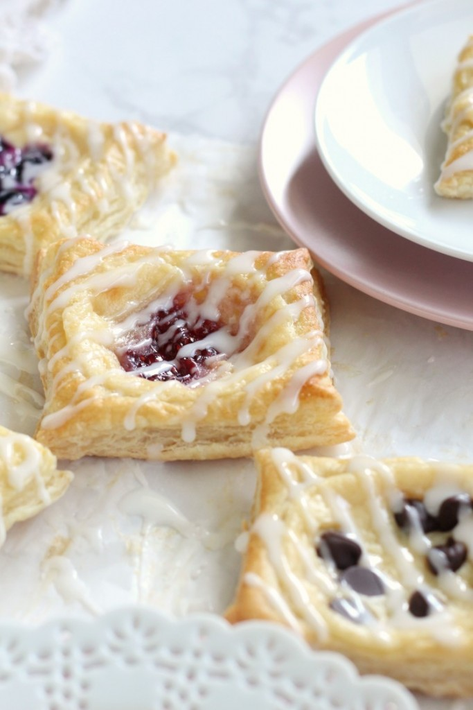 Easy Cream Cheese Puff Pastry Dessert. Try these easy danishes made from puff pastry. Try anh flavor you want, chocolate, raspberry, blueberry or any fruit you want. Quick and easy Brunch Dessert.