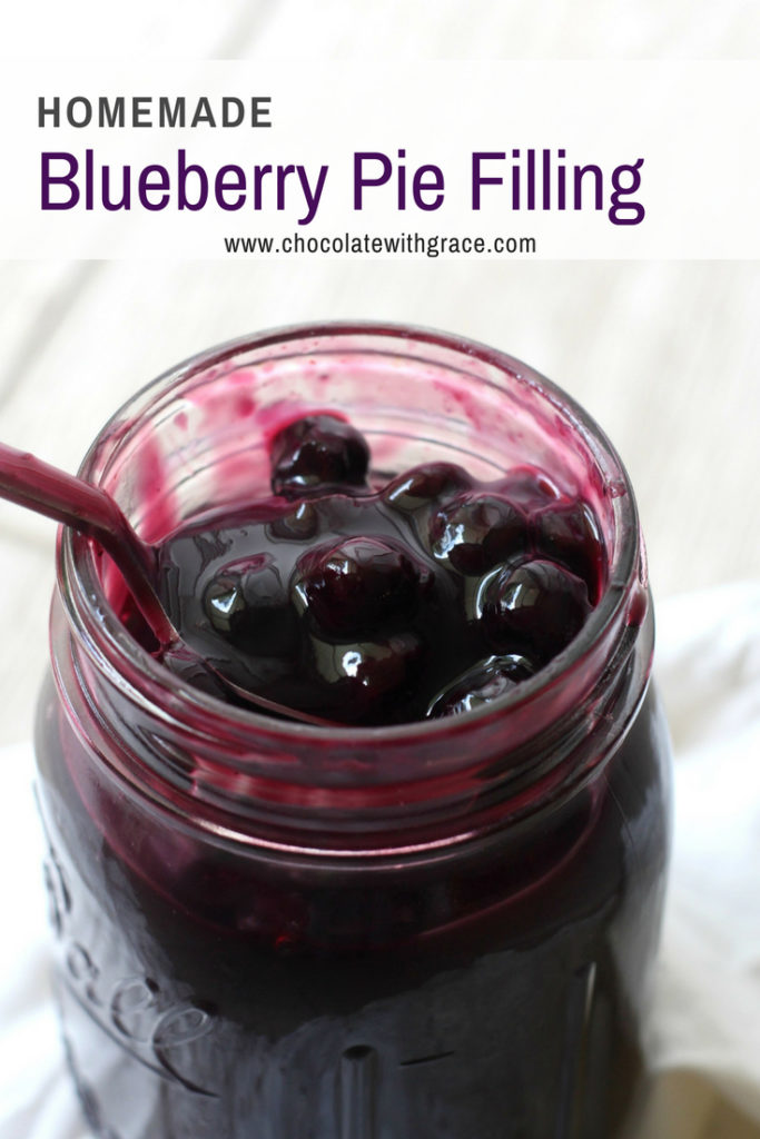 Easy Homemade Blueberry Pie Filling Recipe. Use this recipe to top pie, no bake cheesecake and it's even our favorite blueberry pancake topping