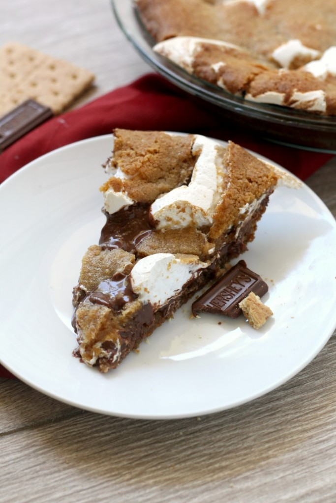 Nutella S'mores Cookie Pie